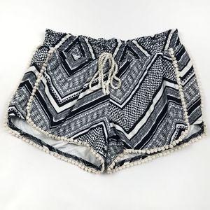 Hot Kiss Striped Lounge Shorts Juniors Large